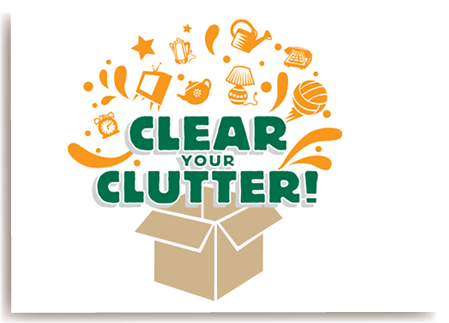 Image result for clear the clutter